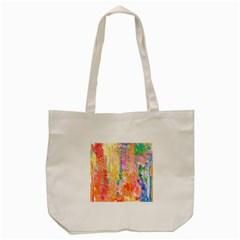 Watercolour Watercolor Paint Ink  Tote Bag (Cream)