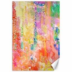 Watercolour Watercolor Paint Ink  Canvas 12  X 18