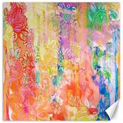 Watercolour Watercolor Paint Ink  Canvas 16  x 16