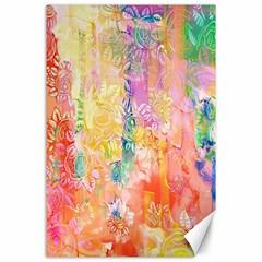 Watercolour Watercolor Paint Ink  Canvas 24  x 36