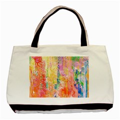 Watercolour Watercolor Paint Ink  Basic Tote Bag (Two Sides)