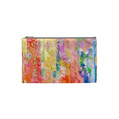 Watercolour Watercolor Paint Ink  Cosmetic Bag (Small)