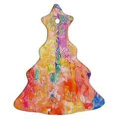Watercolour Watercolor Paint Ink  Ornament (Christmas Tree)