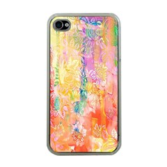 Watercolour Watercolor Paint Ink  Apple iPhone 4 Case (Clear)