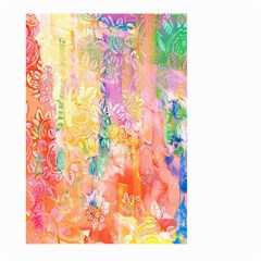 Watercolour Watercolor Paint Ink  Large Garden Flag (Two Sides)