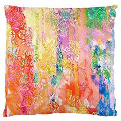 Watercolour Watercolor Paint Ink  Large Cushion Case (One Side)