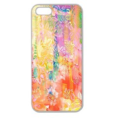 Watercolour Watercolor Paint Ink  Apple Seamless iPhone 5 Case (Clear)