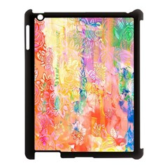 Watercolour Watercolor Paint Ink  Apple Ipad 3/4 Case (black)