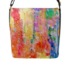 Watercolour Watercolor Paint Ink  Flap Messenger Bag (L)
