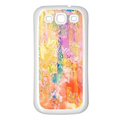 Watercolour Watercolor Paint Ink  Samsung Galaxy S3 Back Case (White)