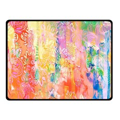 Watercolour Watercolor Paint Ink  Double Sided Fleece Blanket (Small)
