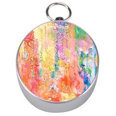 Watercolour Watercolor Paint Ink  Silver Compasses