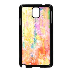 Watercolour Watercolor Paint Ink  Samsung Galaxy Note 3 Neo Hardshell Case (black)