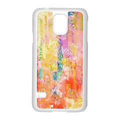 Watercolour Watercolor Paint Ink  Samsung Galaxy S5 Case (White)