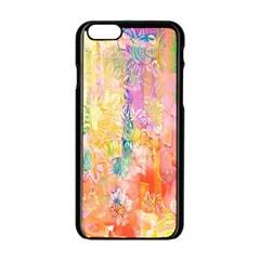 Watercolour Watercolor Paint Ink  Apple iPhone 6/6S Black Enamel Case