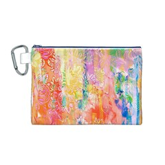 Watercolour Watercolor Paint Ink  Canvas Cosmetic Bag (M)