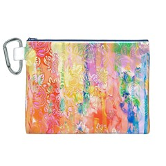 Watercolour Watercolor Paint Ink  Canvas Cosmetic Bag (XL)