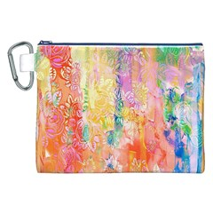 Watercolour Watercolor Paint Ink  Canvas Cosmetic Bag (XXL)