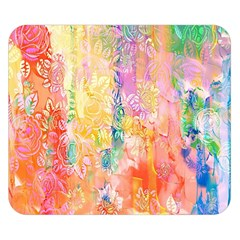 Watercolour Watercolor Paint Ink  Double Sided Flano Blanket (Small)