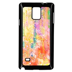 Watercolour Watercolor Paint Ink  Samsung Galaxy Note 4 Case (Black)
