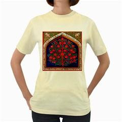 Tree Of Life Women s Yellow T Shirt