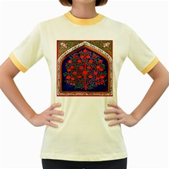 Tree Of Life Women s Fitted Ringer T-Shirts