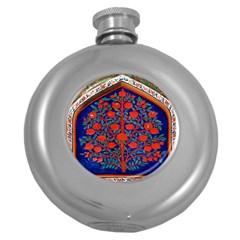 Tree Of Life Round Hip Flask (5 oz)