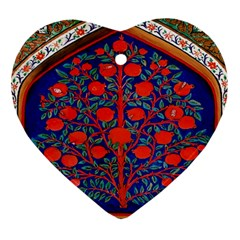 Tree Of Life Heart Ornament (Two Sides)