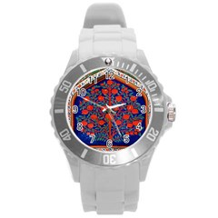 Tree Of Life Round Plastic Sport Watch (L)
