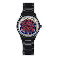 Tree Of Life Stainless Steel Round Watch