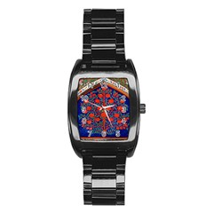 Tree Of Life Stainless Steel Barrel Watch