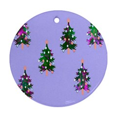 Watercolour Paint Dripping Ink  Ornament (round)