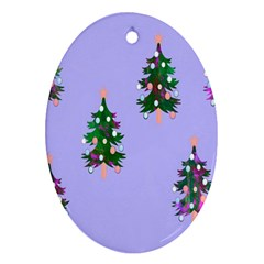 Watercolour Paint Dripping Ink  Ornament (Oval)