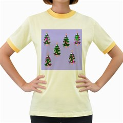 Watercolour Paint Dripping Ink  Women s Fitted Ringer T-Shirts