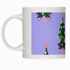Watercolour Paint Dripping Ink  White Mugs