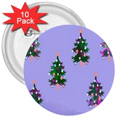 Watercolour Paint Dripping Ink  3  Buttons (10 pack)