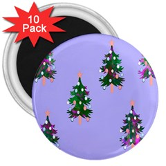 Watercolour Paint Dripping Ink  3  Magnets (10 pack)
