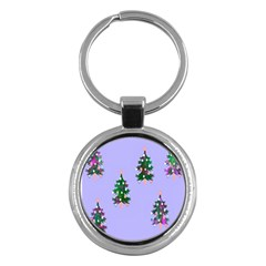 Watercolour Paint Dripping Ink  Key Chains (Round)