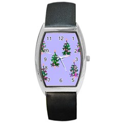 Watercolour Paint Dripping Ink  Barrel Style Metal Watch