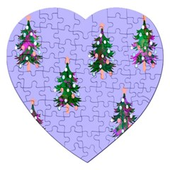 Watercolour Paint Dripping Ink  Jigsaw Puzzle (heart)
