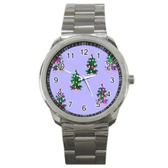 Watercolour Paint Dripping Ink  Sport Metal Watch