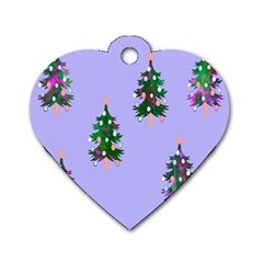 Watercolour Paint Dripping Ink  Dog Tag Heart (One Side)