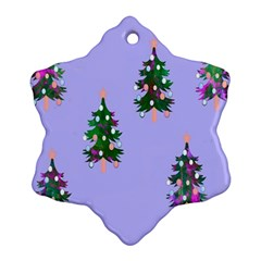 Watercolour Paint Dripping Ink  Ornament (Snowflake)