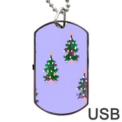 Watercolour Paint Dripping Ink  Dog Tag Usb Flash (two Sides)