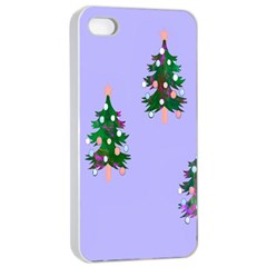 Watercolour Paint Dripping Ink  Apple iPhone 4/4s Seamless Case (White)
