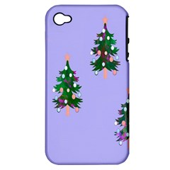 Watercolour Paint Dripping Ink  Apple Iphone 4/4s Hardshell Case (pc+silicone)