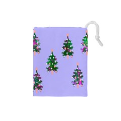 Watercolour Paint Dripping Ink  Drawstring Pouches (Small)