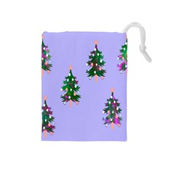 Watercolour Paint Dripping Ink  Drawstring Pouches (Medium)