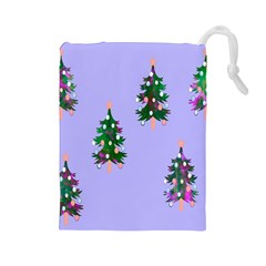 Watercolour Paint Dripping Ink  Drawstring Pouches (large)