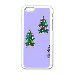 Watercolour Paint Dripping Ink  Apple Iphone 6/6s White Enamel Case